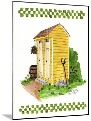 Yellow Double Outhouse-Debbie McMaster-Mounted Giclee Print
