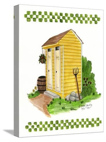Yellow Double Outhouse-Debbie McMaster-Stretched Canvas Print