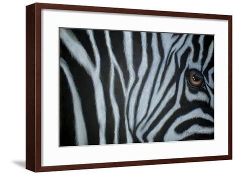 Zebra Eye-Cherie Roe Dirksen-Framed Art Print
