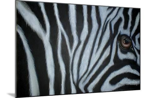 Zebra Eye-Cherie Roe Dirksen-Mounted Giclee Print