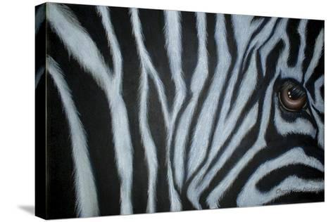Zebra Eye-Cherie Roe Dirksen-Stretched Canvas Print