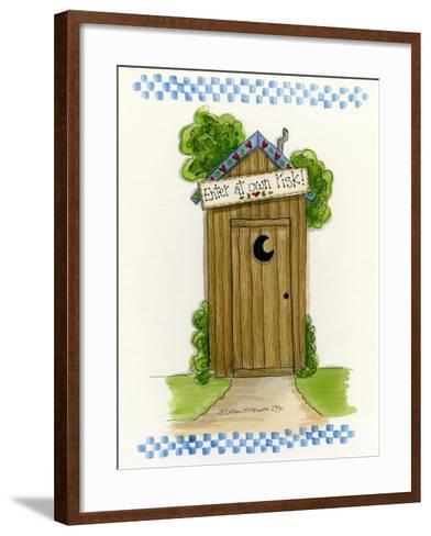 Enter at Your Own Risk-Debbie McMaster-Framed Art Print