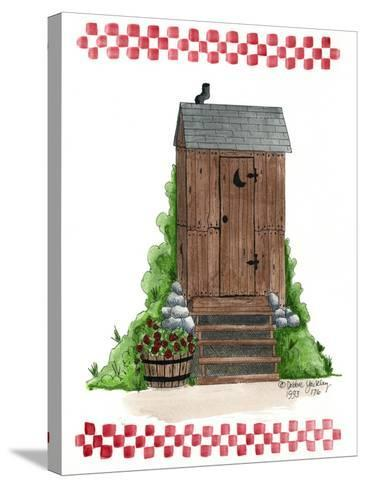 Wooden Outhouse-Debbie McMaster-Stretched Canvas Print