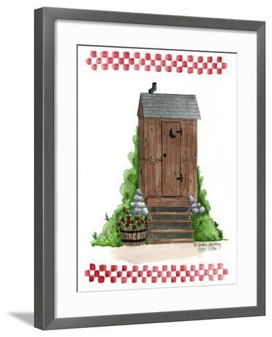 Wooden Outhouse-Debbie McMaster-Framed Art Print