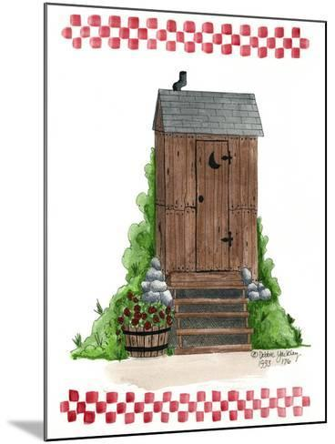Wooden Outhouse-Debbie McMaster-Mounted Giclee Print
