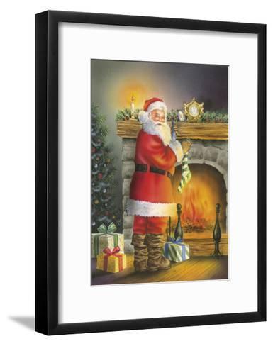 Santa-DBK-Art Licensing-Framed Art Print