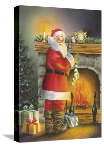 Santa-DBK-Art Licensing-Stretched Canvas Print