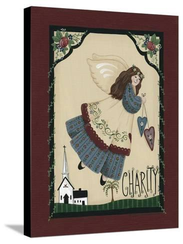 Charity Angel-Debbie McMaster-Stretched Canvas Print