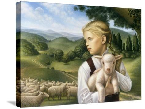 Girl with Lamb-Dan Craig-Stretched Canvas Print