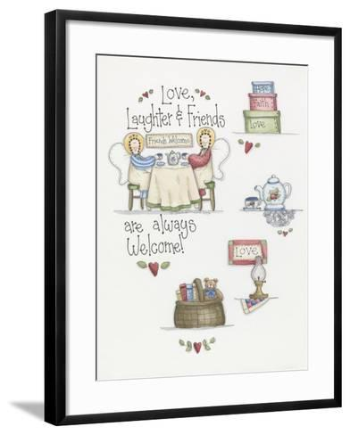 Love Laughter Friends-Debbie McMaster-Framed Art Print