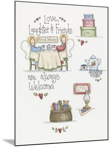 Love Laughter Friends-Debbie McMaster-Mounted Giclee Print