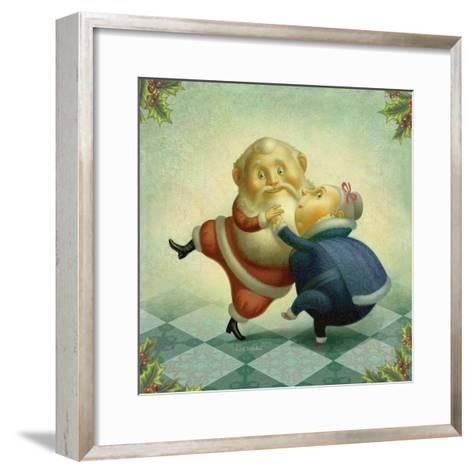 Dancing Santa and Mrs.-Dan Craig-Framed Art Print