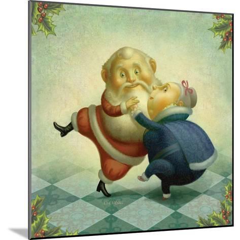 Dancing Santa and Mrs.-Dan Craig-Mounted Giclee Print
