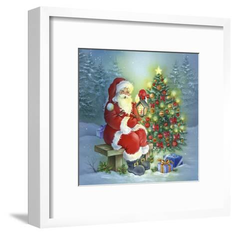Santa-DBK-Art Licensing-Framed Art Print