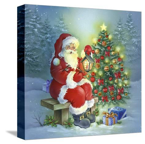 Santa-DBK-Art Licensing-Stretched Canvas Print