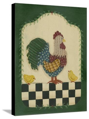 Country Rooster and Chicks-Debbie McMaster-Stretched Canvas Print