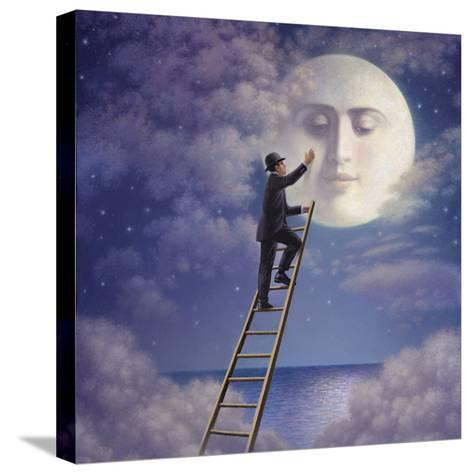 Man with Moon-Dan Craig-Stretched Canvas Print