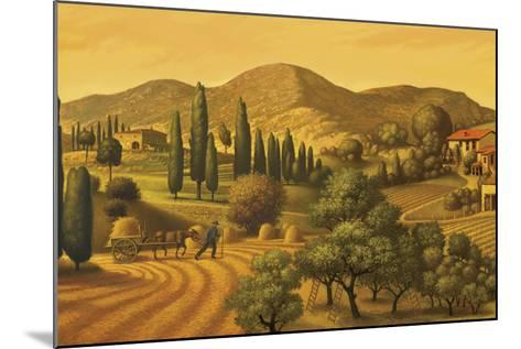 Tuscan Landscape-Dan Craig-Mounted Giclee Print