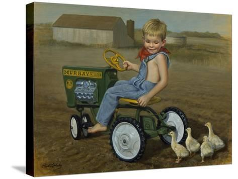 Murray Diesel Tractor-David Lindsley-Stretched Canvas Print
