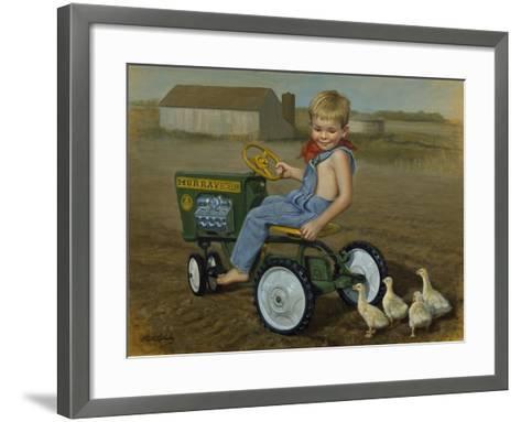 Murray Diesel Tractor-David Lindsley-Framed Art Print