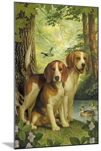 Beagles and Duck-Dan Craig-Mounted Giclee Print