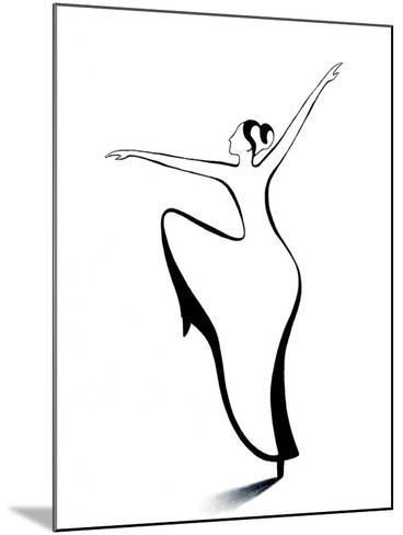 Dancer 2-Chantal Candon-Mounted Giclee Print