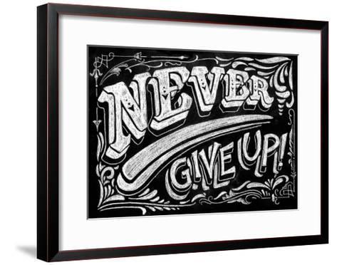 Never Give Up-CJ Hughes-Framed Art Print