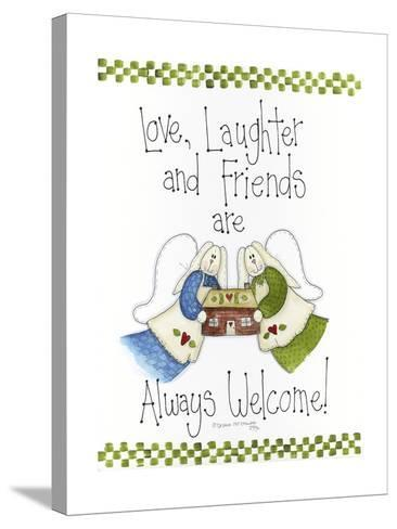 Love, Laughter and Friends-Debbie McMaster-Stretched Canvas Print