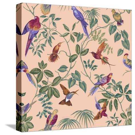 Aviary Final Blush-Bill Jackson-Stretched Canvas Print