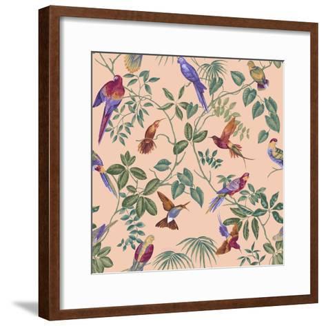 Aviary Final Blush-Bill Jackson-Framed Art Print