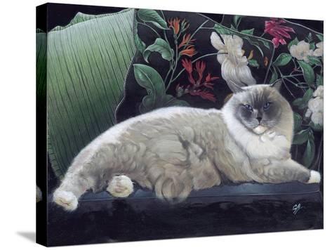 Blue Sans Que-Durwood Coffey-Stretched Canvas Print