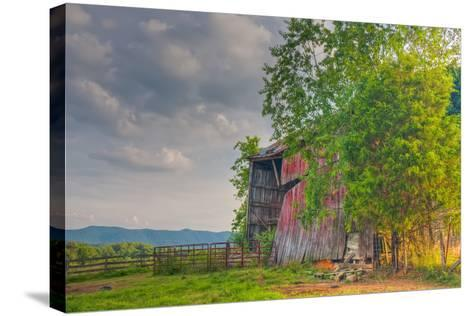 Mayberry Barn-Bob Rouse-Stretched Canvas Print