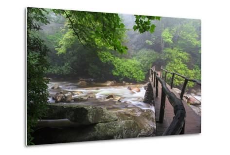 Wooden Bridge-Bob Rouse-Metal Print