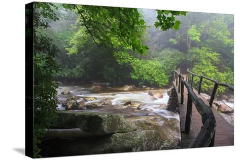 Wooden Bridge-Bob Rouse-Stretched Canvas Print