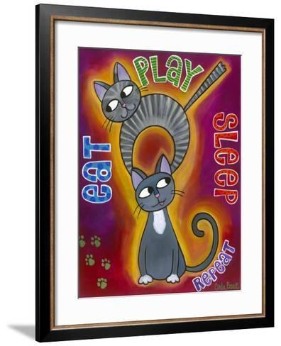 Eat Play Sleep-Carla Bank-Framed Art Print