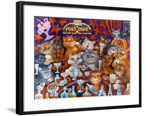 Puss Cafe-Bill Bell-Framed Art Print