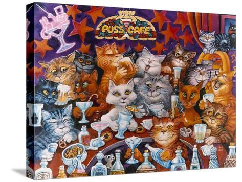 Puss Cafe-Bill Bell-Stretched Canvas Print