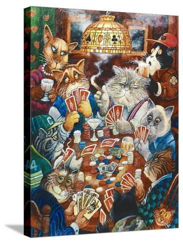 Poker Cats-Bill Bell-Stretched Canvas Print