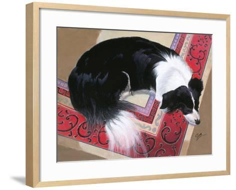 Dog on a Rug-Durwood Coffey-Framed Art Print