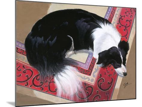 Dog on a Rug-Durwood Coffey-Mounted Giclee Print