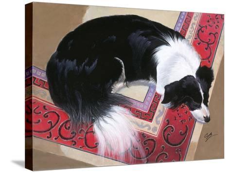 Dog on a Rug-Durwood Coffey-Stretched Canvas Print