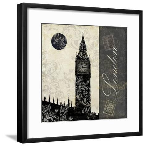 Moon over London-Color Bakery-Framed Art Print