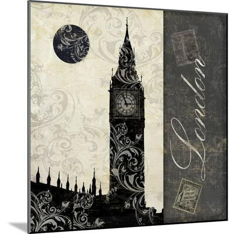 Moon over London-Color Bakery-Mounted Giclee Print