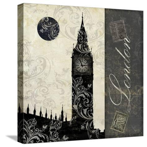 Moon over London-Color Bakery-Stretched Canvas Print
