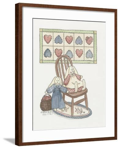 Bunnies with Chair-Debbie McMaster-Framed Art Print