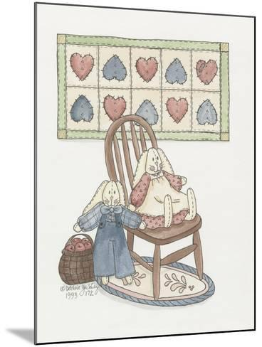 Bunnies with Chair-Debbie McMaster-Mounted Giclee Print