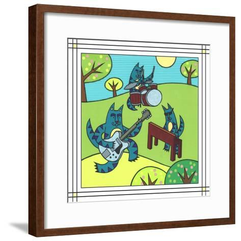 Max Cat Band 1-Denny Driver-Framed Art Print