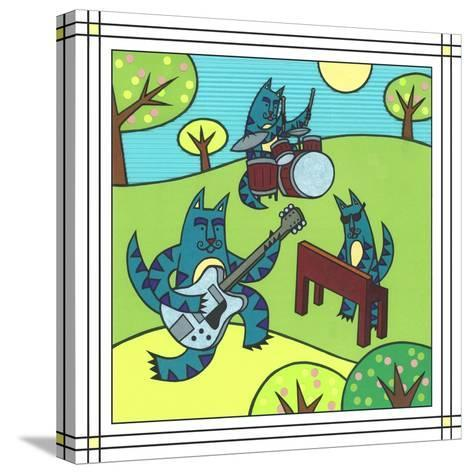 Max Cat Band 1-Denny Driver-Stretched Canvas Print