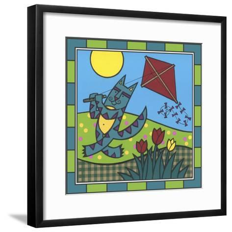 Max Cat Kite 1-Denny Driver-Framed Art Print