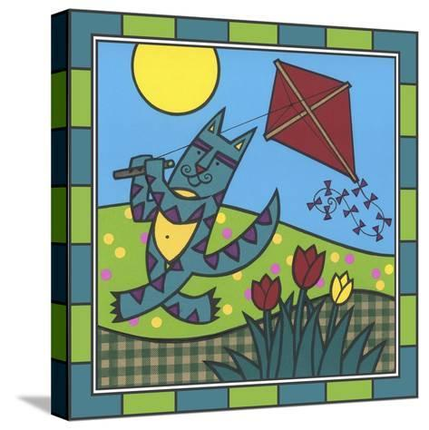 Max Cat Kite 1-Denny Driver-Stretched Canvas Print
